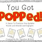 """""""You Got Popped!"""" is a decoding game that helps students practice one-syllable words with blends and digraphs.   This is a great game to play durin..."""