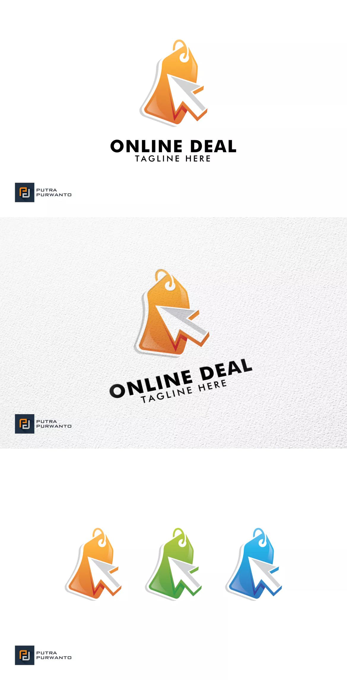 Online Deal Logo Template by putra_purwanto on Logo