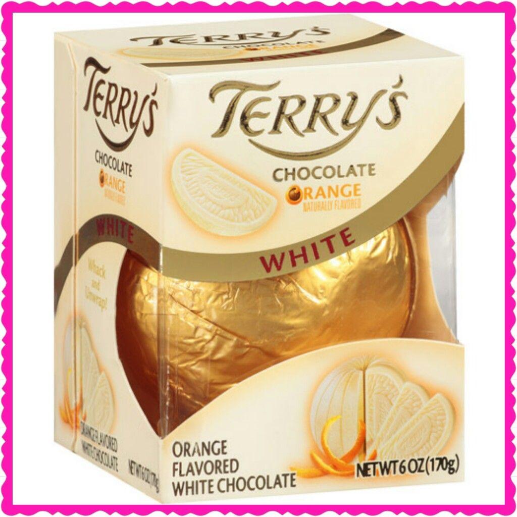 Terrys Orange Flavored White Chocolate White Chocolate