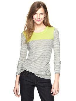 Colorblock striped tunic | Gap