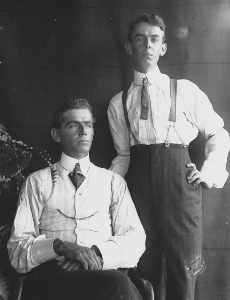 Two Men Photographed In Studio Style 1890 1900 In 2020