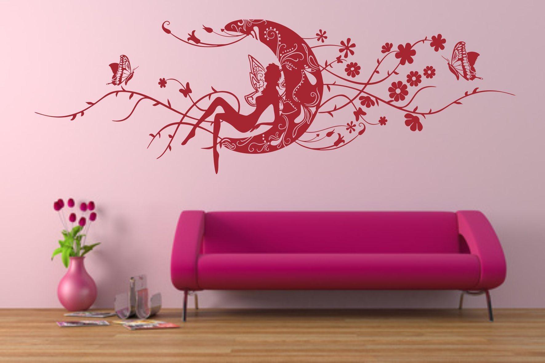 Hada en luna vinilo decorativo vinilos decorativos - Pegatinas para decorar ...