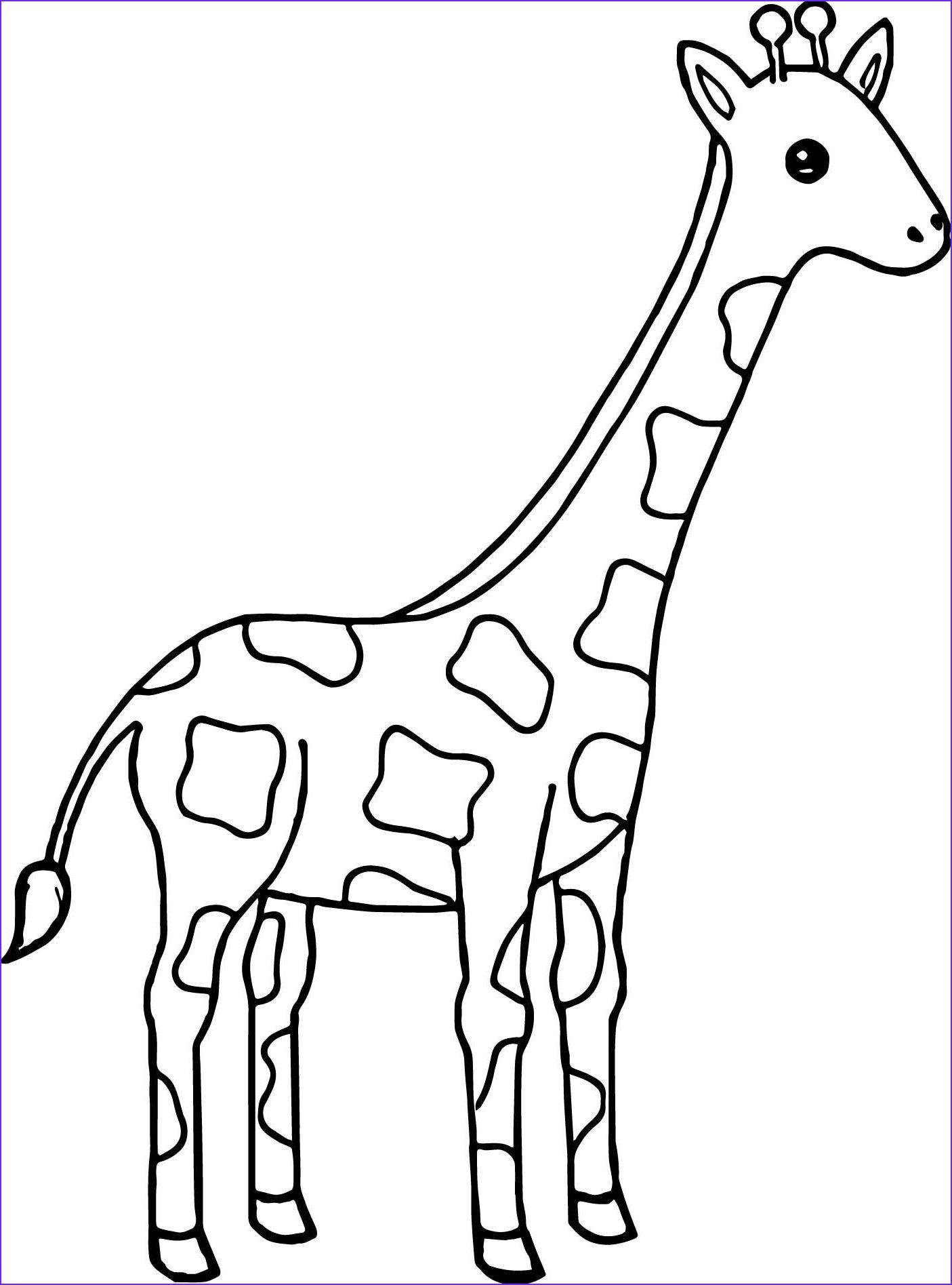Nice Tall Giraffe Coloring Page Wecoloringpage In