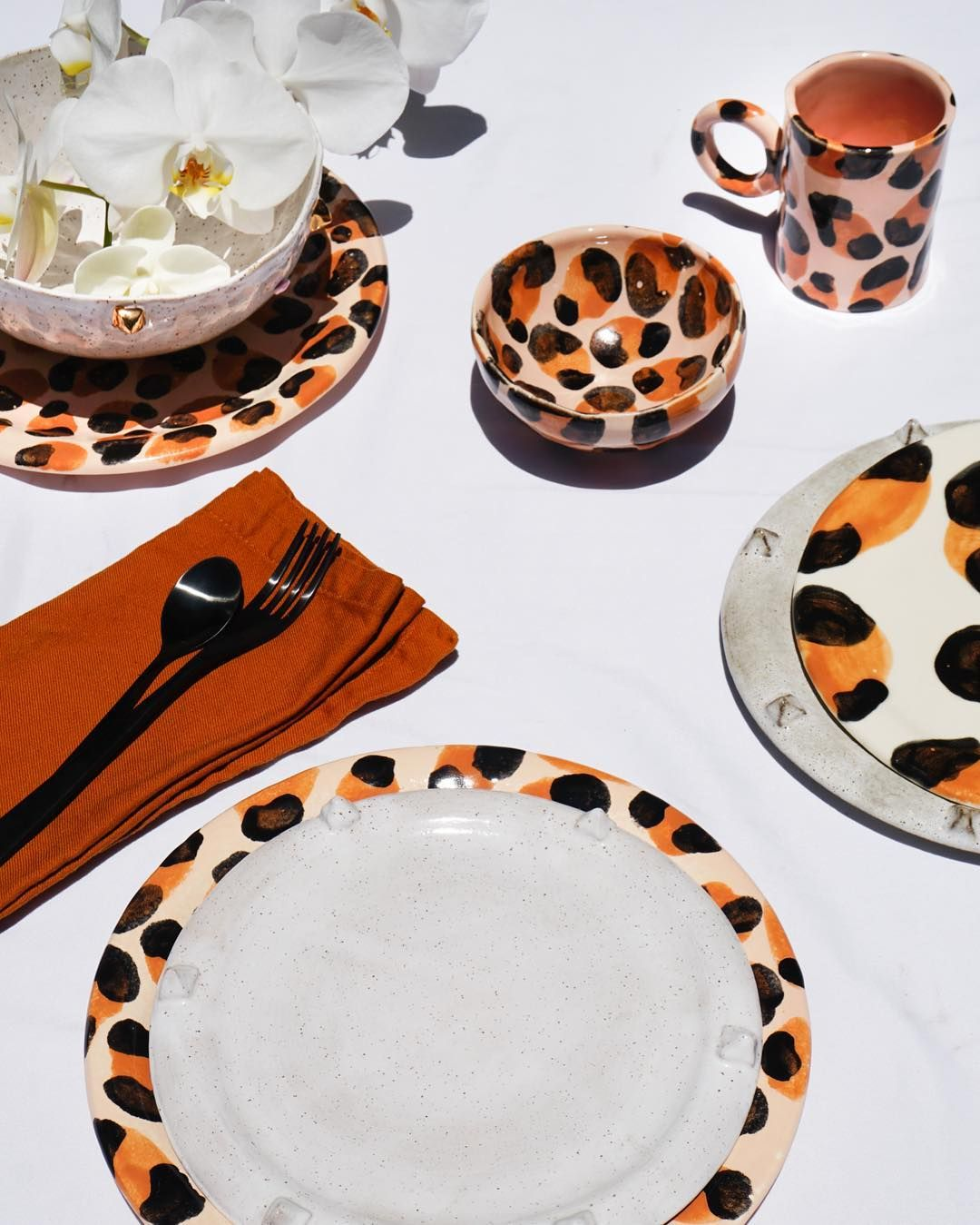 The Limited Edition Leopard Print Collection Has Just Dropped On Our Site Sign Up For The Vip Private Sale To Holiday Table Settings Holiday Tables Fall Table