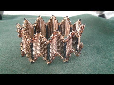 Beading4perfectionists : Stitch nr. 15 : Diagonal Peyote bangle bracelet beading tutorial - YouTube #beads