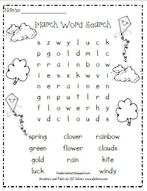 Kindergarten Is A Hoot!: Spring Break is Over! ..and a freebie ...