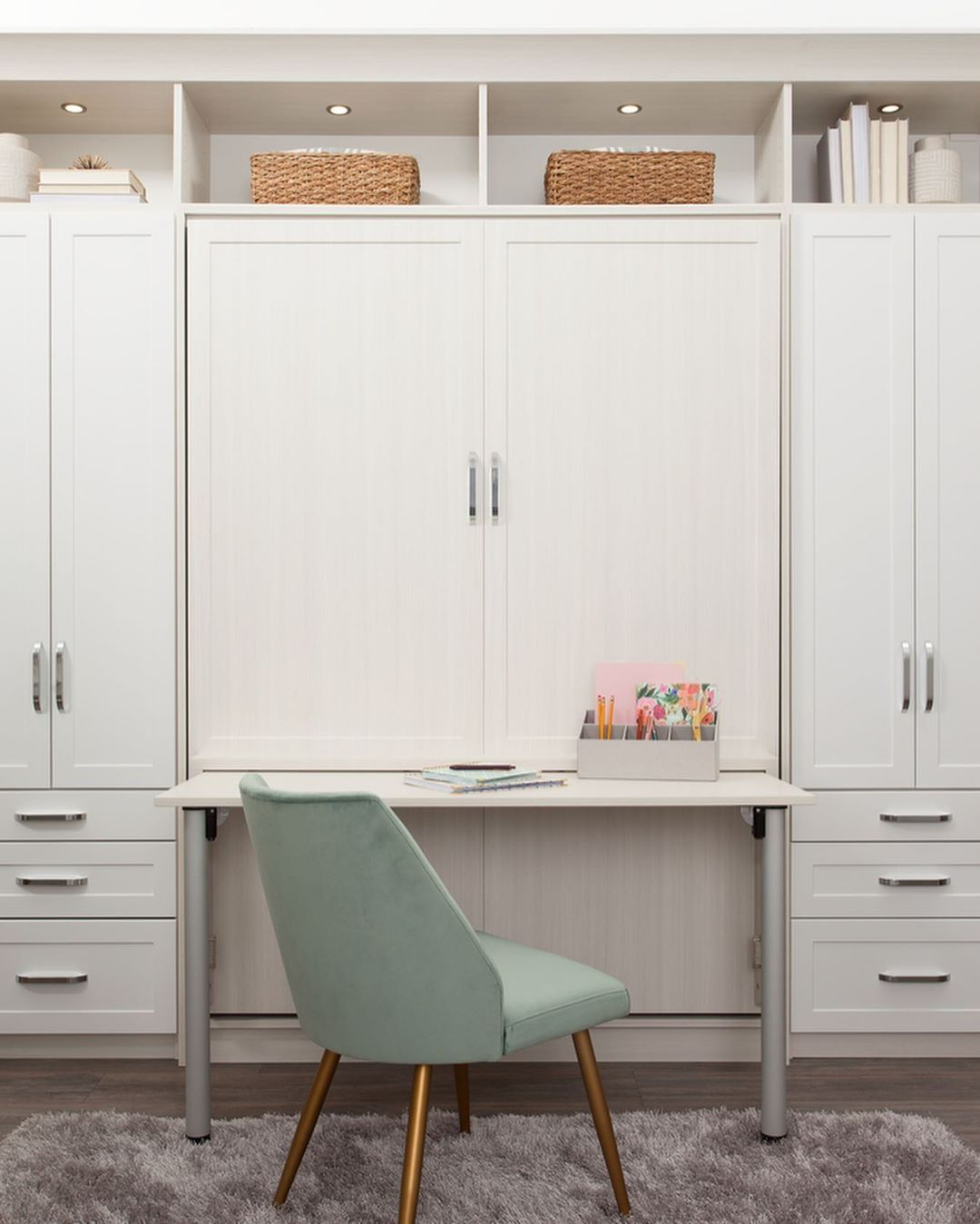 6 Wall Murphy Bed With Built In Desk Combo Murphy Bed Desk Beds For Small Spaces Murphy Bed Office