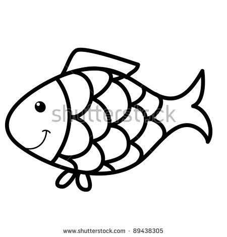 Fish Outline Stock Images Royalty Free Images Vectors Fish Drawings Easy Fish Drawing Fish Outline