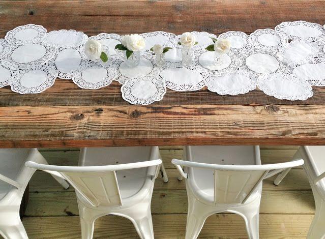 nuevas ideas para decorar la mesa con blondas