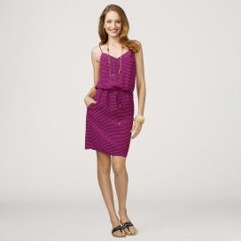C Wonder Nautical Stripes Silk Dress