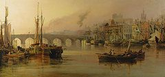 view of newcastle from the river tyne thomsa miles richardson   ... - View of Newcastle from the River Tyne by Thomas Miles Richardson