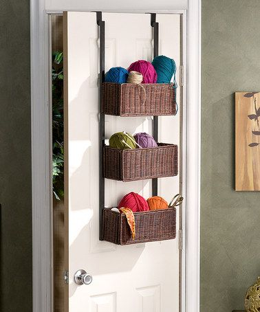 Look at this #zulilyfind! Netural Over-the-Door Three-Tier Storage Basket #zulilyfinds