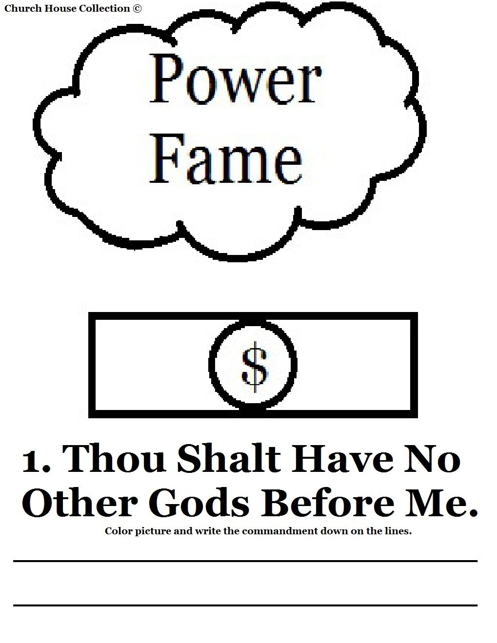 St Commandment    This Is For The First Commandment Of The Ten