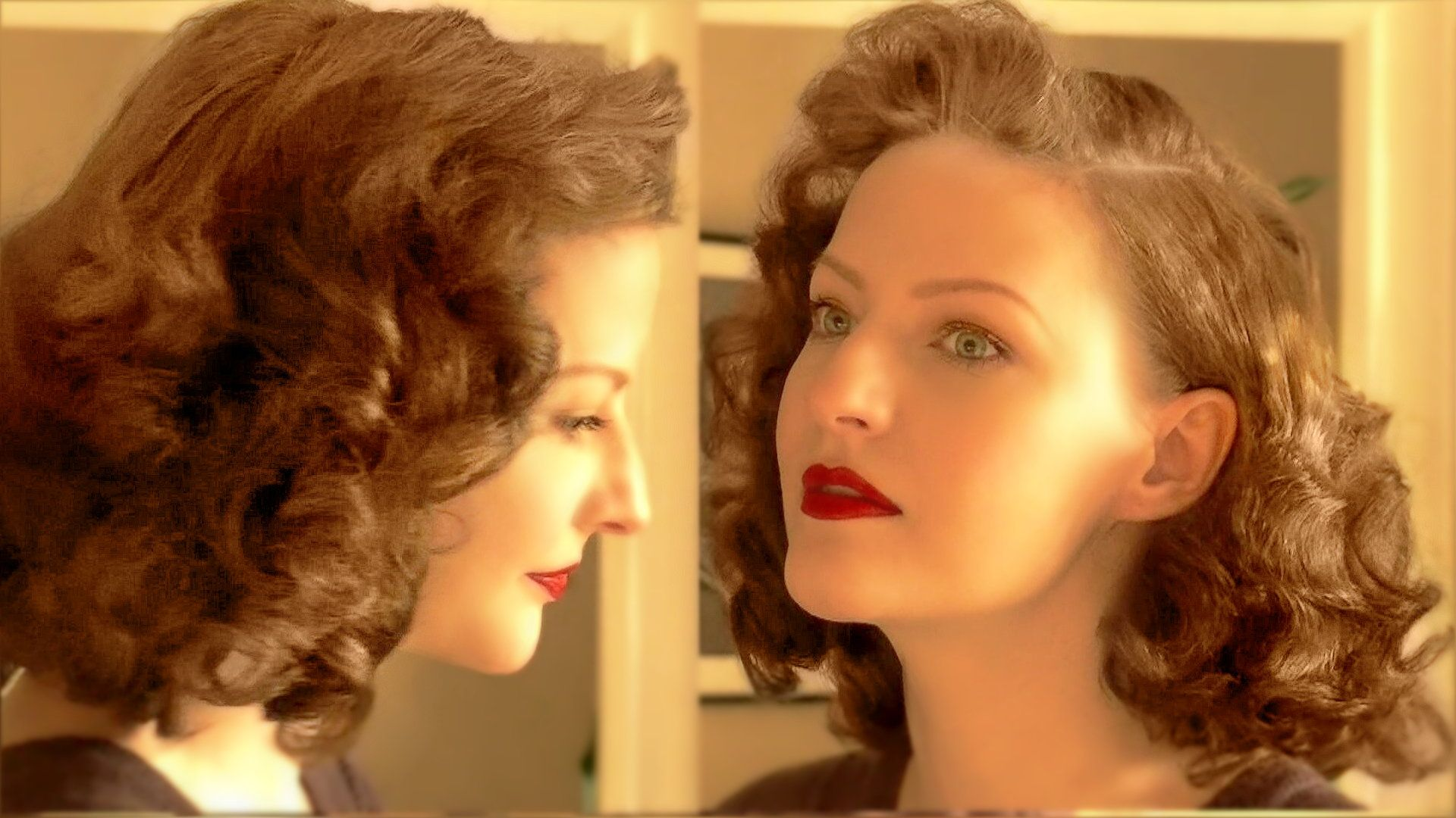Lilly Jarlsson tutorial pin curl wet set easy 1940s style