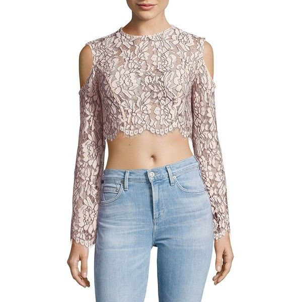 b5547f72682 Keepsake Adorn Lace Cold Shoulder Top ($100) ❤ liked on Polyvore featuring  tops,