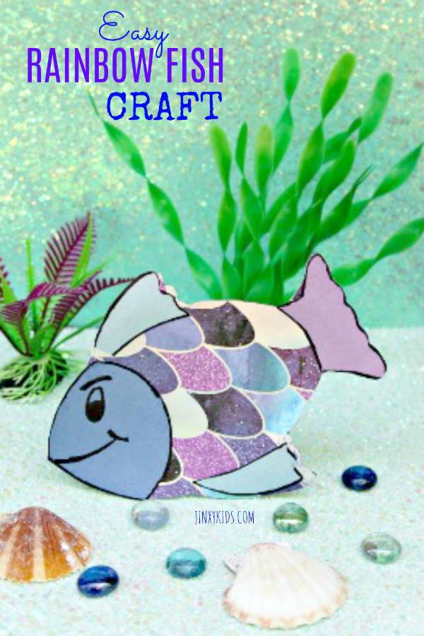 Easy Rainbow Fish Craft Jinxy Kids Kids Craft