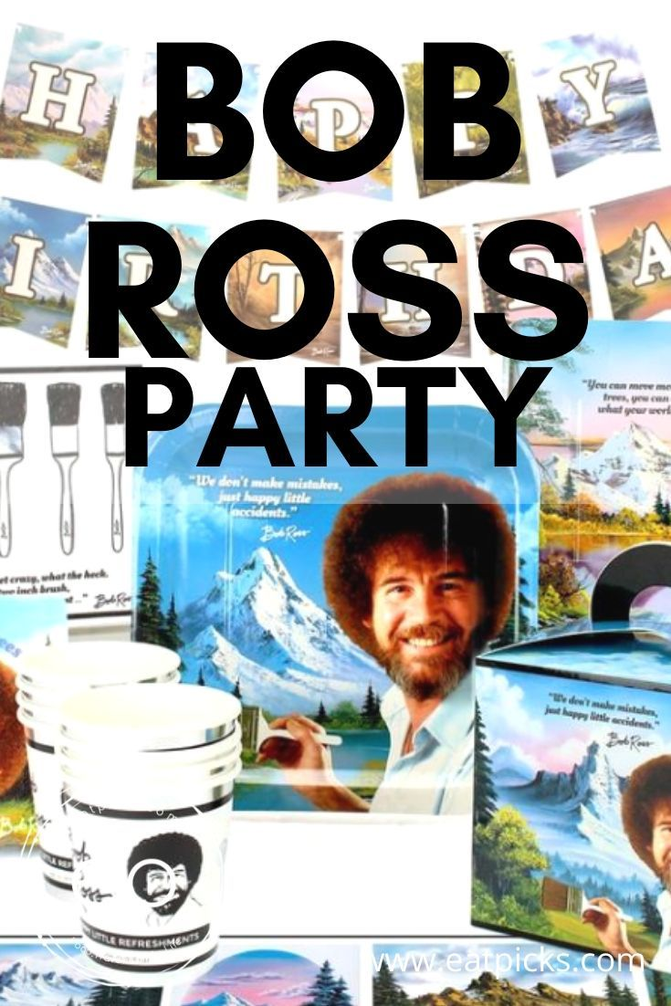 Your Bob Ross party theme would not be complete without