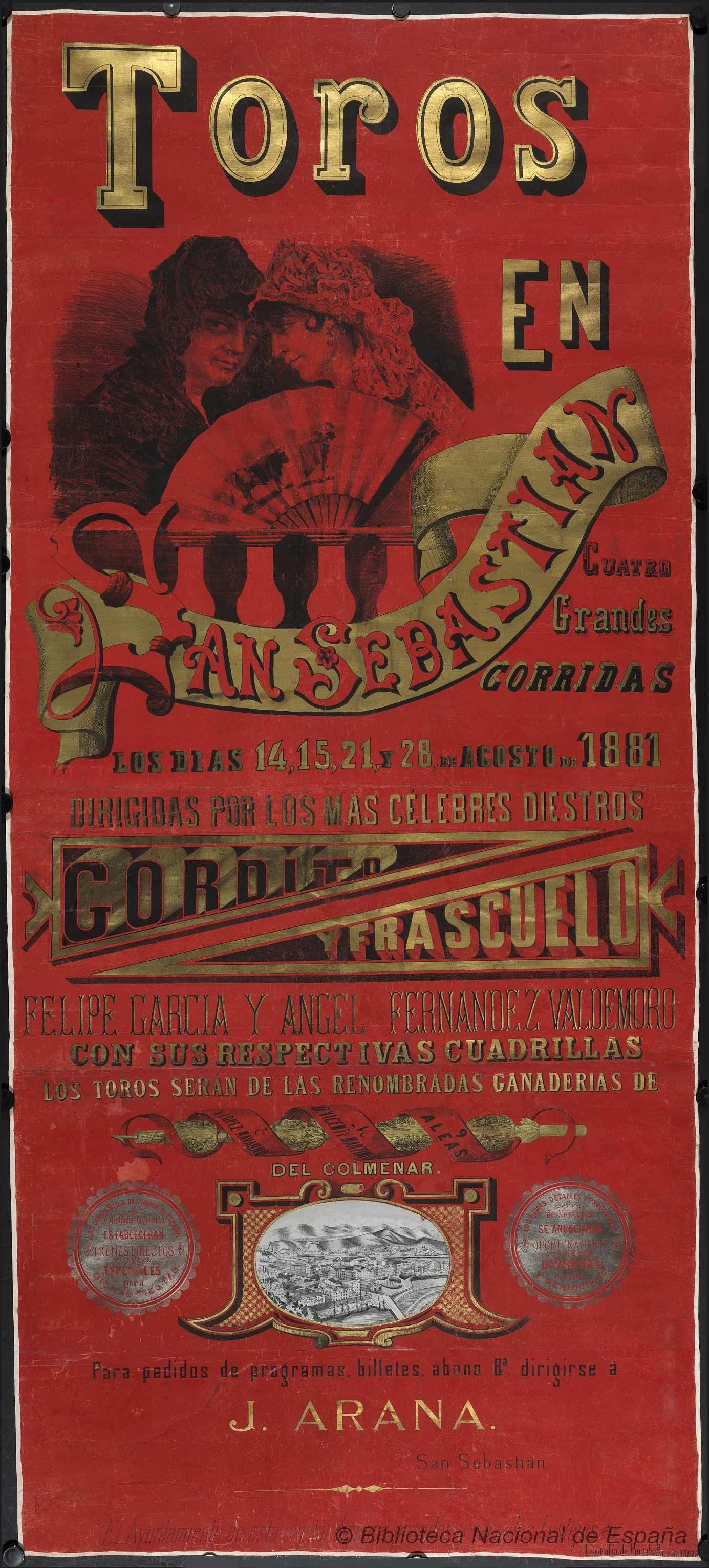 Cuatro Grandes Corridas Vintage Posters Propaganda Posters Poster