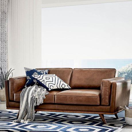 Dahlia 2 Seat Leather Sofa In 2020 Leather Couches Living Room Leather Sofa Brown Leather Couch Living Room