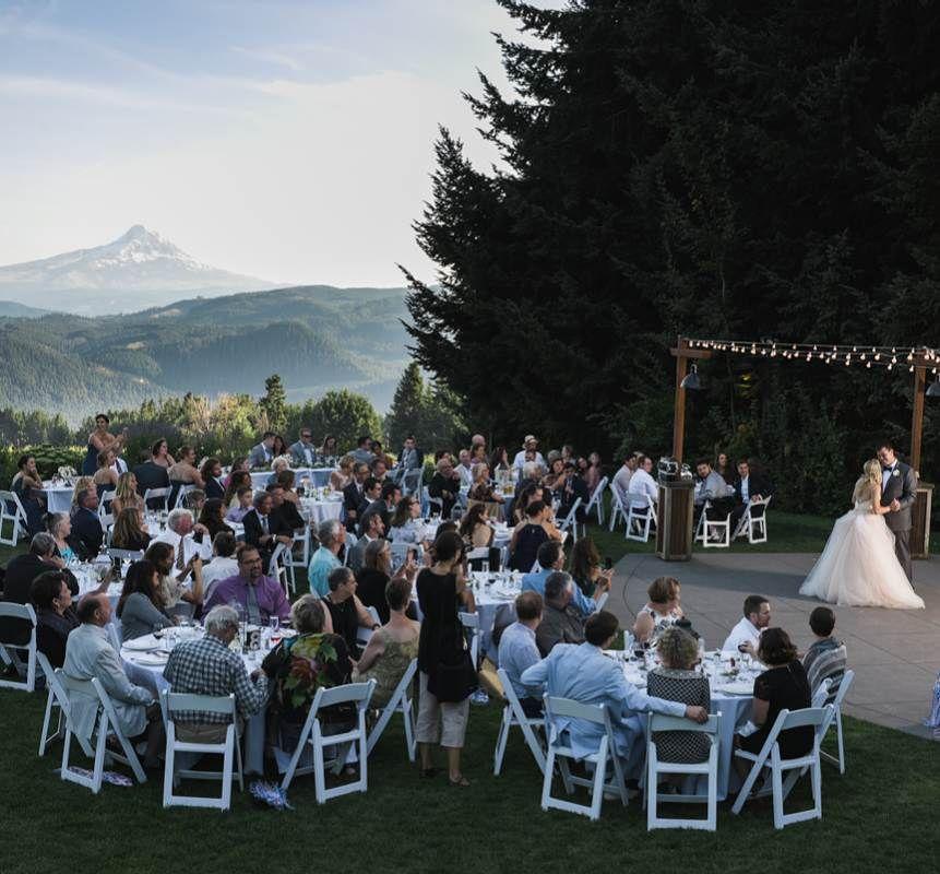 Wedding Dance Reception At Gorge Crest Vineyards Winery