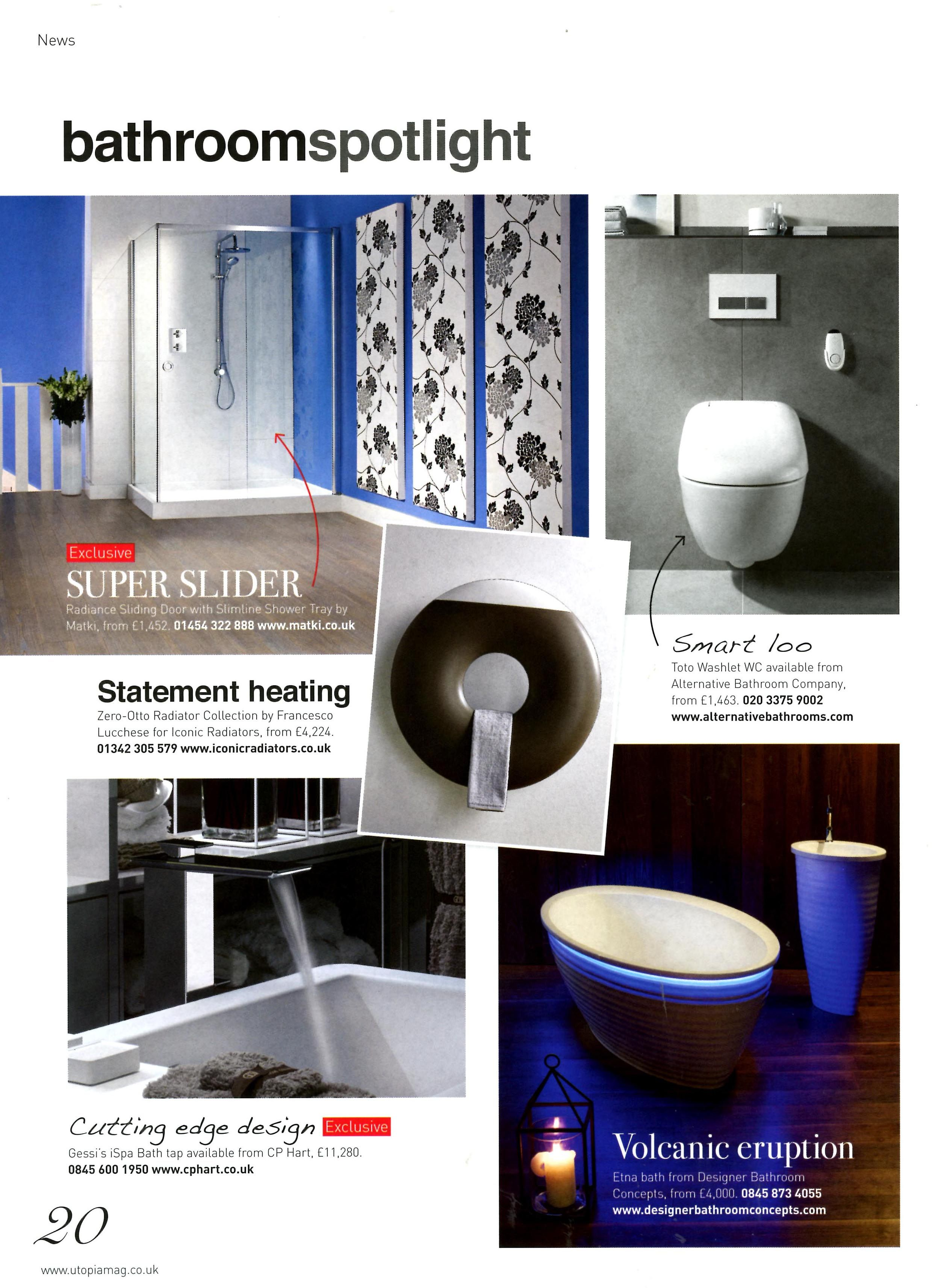 The Toto Washlet WC featured in Utopia Kitchen & Bathroom December ...
