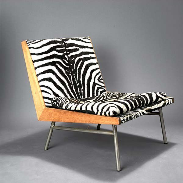 Richard Monpoix; Nickel-Plated Steel and Plywood Easy Chair for Artifort, c1955.