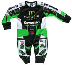 Monster Pro Circuit Kawasaki 1 Piece Replica Playwear Bébé Motocross 444d6992687