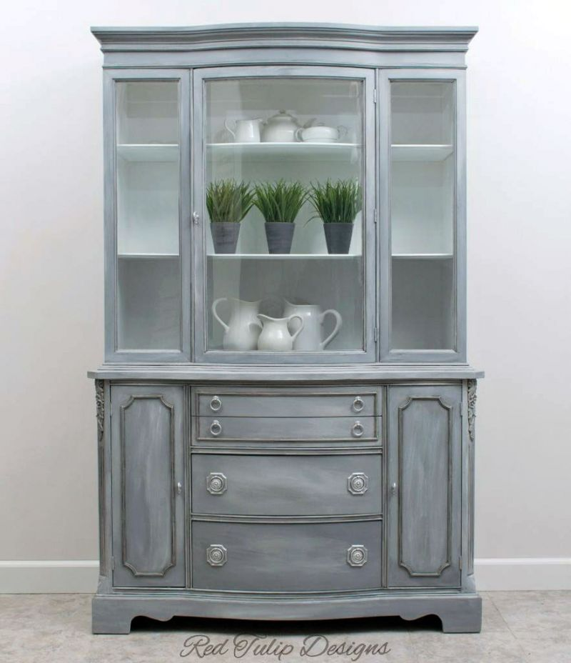 Best Blend Gray China Cabinet China Cabinet Furniture Gray 400 x 300