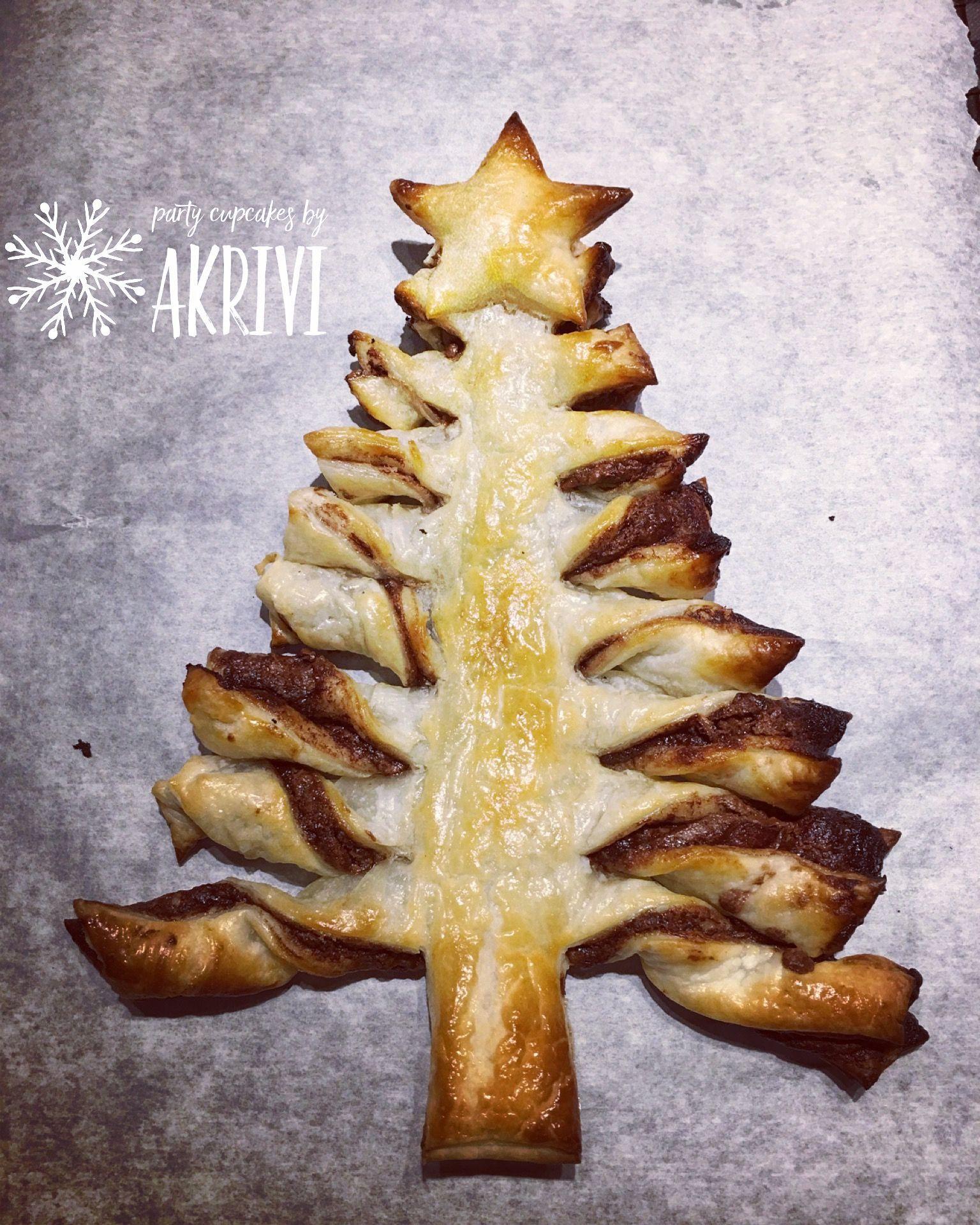 Christmas Nutella puff pastry tree #nutella #christmas #dessert ...