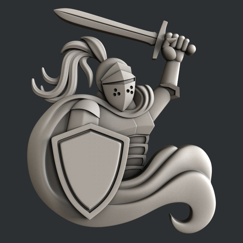 3d STL models for CNC router or 3d printer Knight in 2020