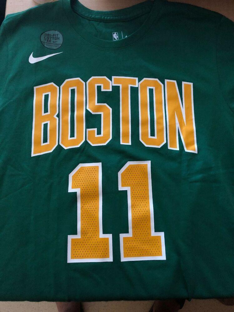 meet 5f56d 1ed1a Boston Celtics T-Shirt Kyrie Irving T-shirt Logo Men's S ...