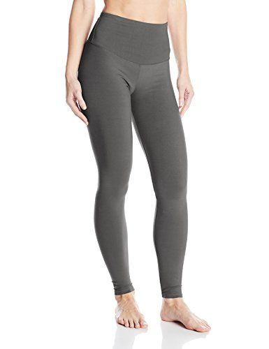 Yummie by Heather Thomson Women's Rachel Compact Cotton Legging, Castlerock, X-Small. Shaping legging featuring extended elastic waist for extra tummy control.