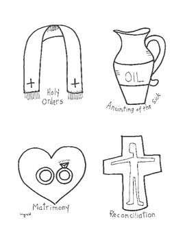 Catholic 7 Sacraments Activity Booklet Party Printables