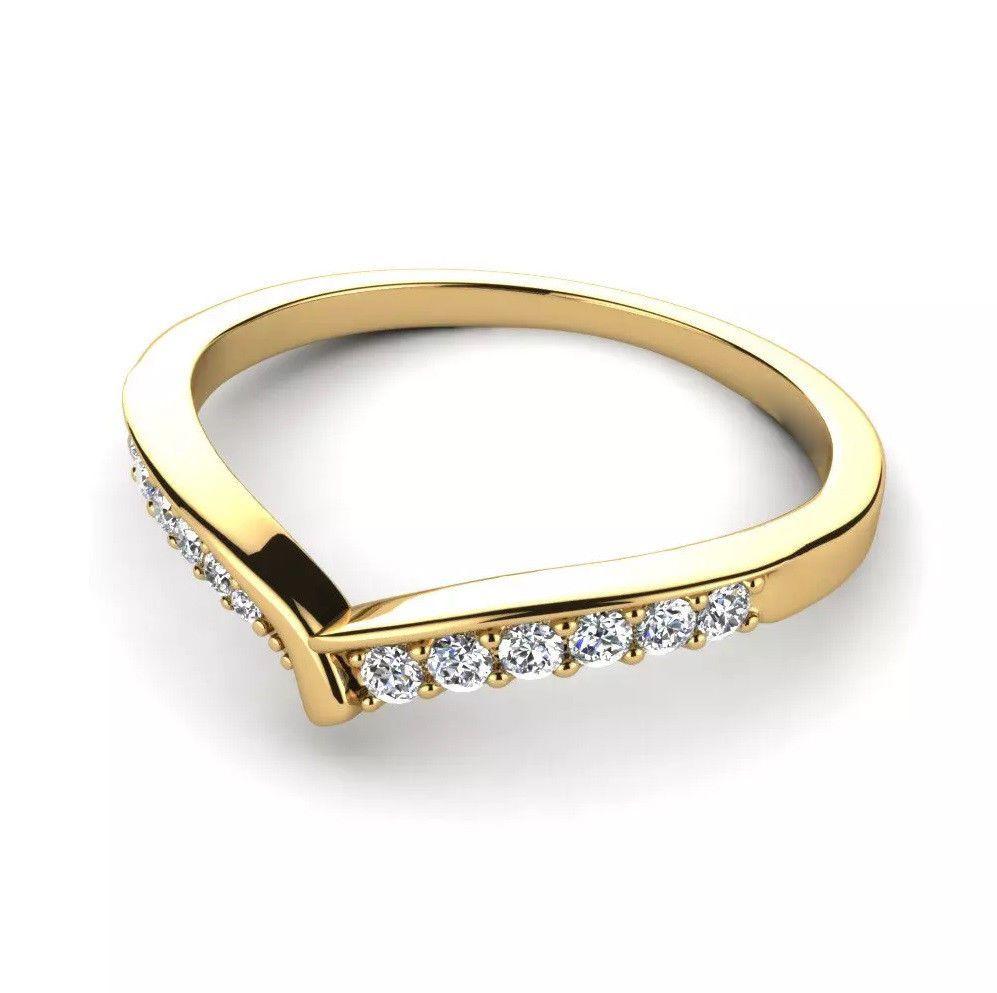 IGI Certificate 0.25Ct Round Diamond Half Eternity Wedding