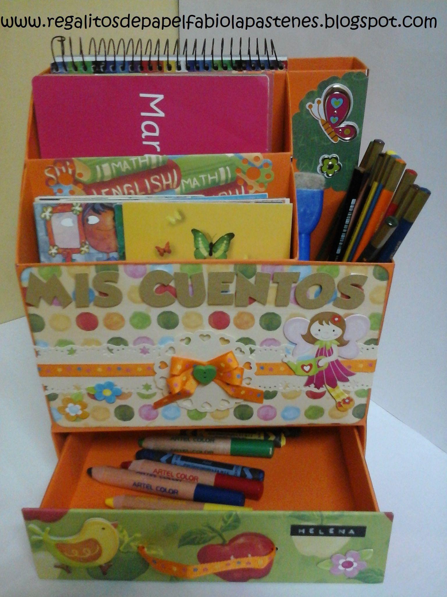 Cajita para guardar los cuentos de mi hija a partir de - Cajas para guardar herramientas ...