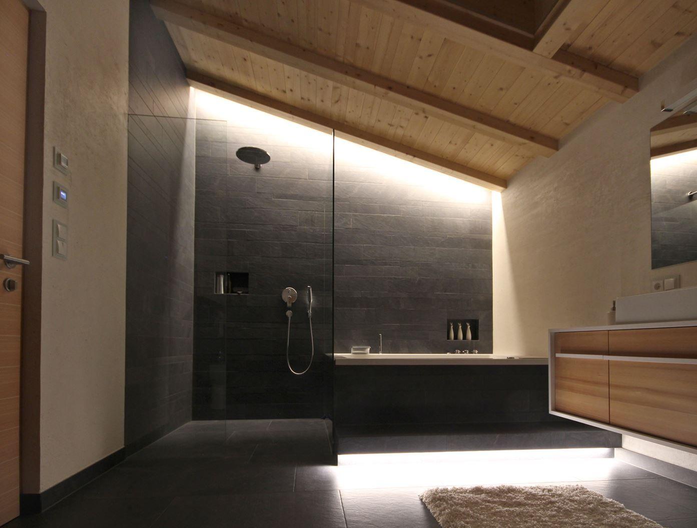 Bagno Montagna ~ Una mansarda in montagna interior ombre spa and