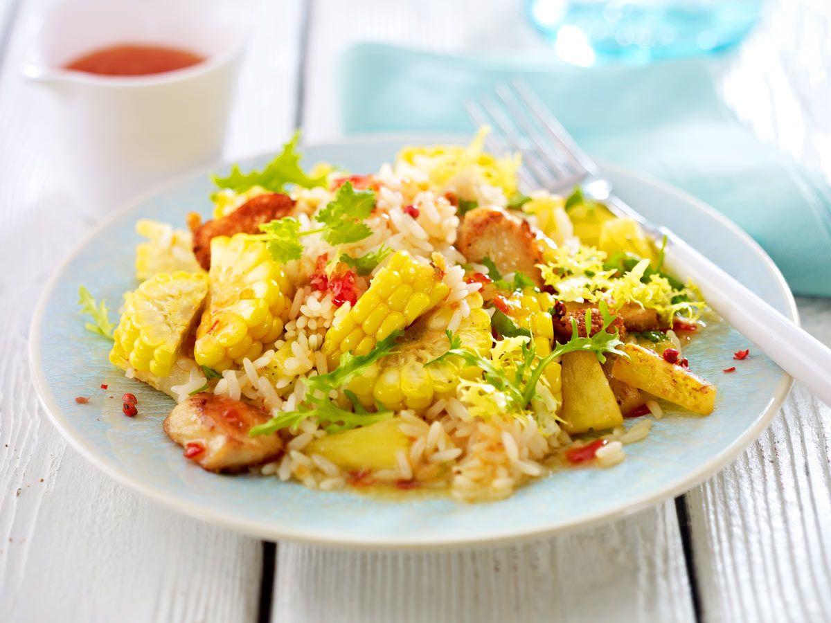 Reissalat – bunte Rezept-Ideen mit weißem Korn - reissalat-mit-mais  Rezept
