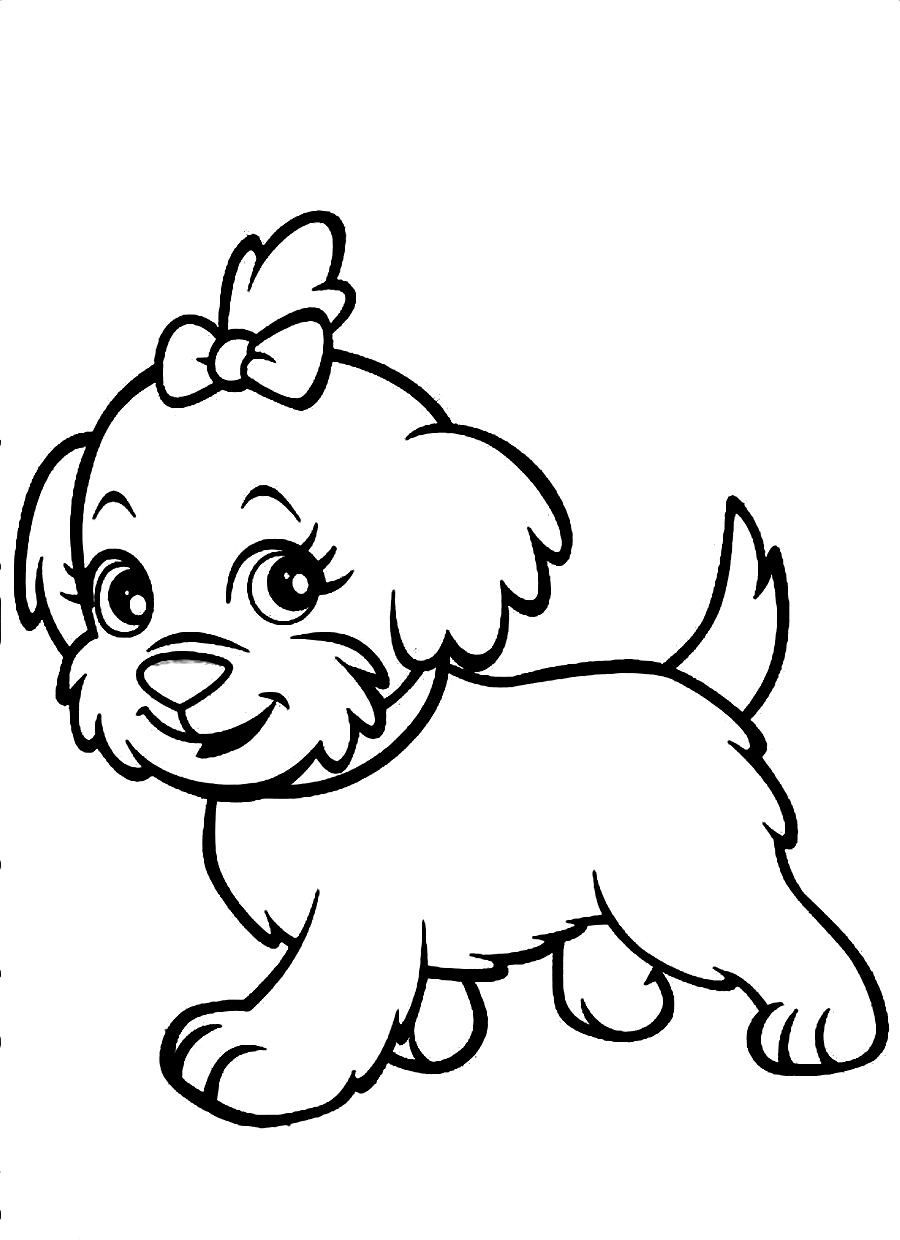 New Cute Dog Coloring Pages 73 In Free Coloring Book with Cute Dog ...