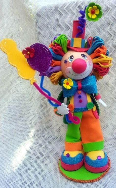TWAG (scrapwluv) Handmade by Rosa.   Fofuchos payasos, Payaso con ...