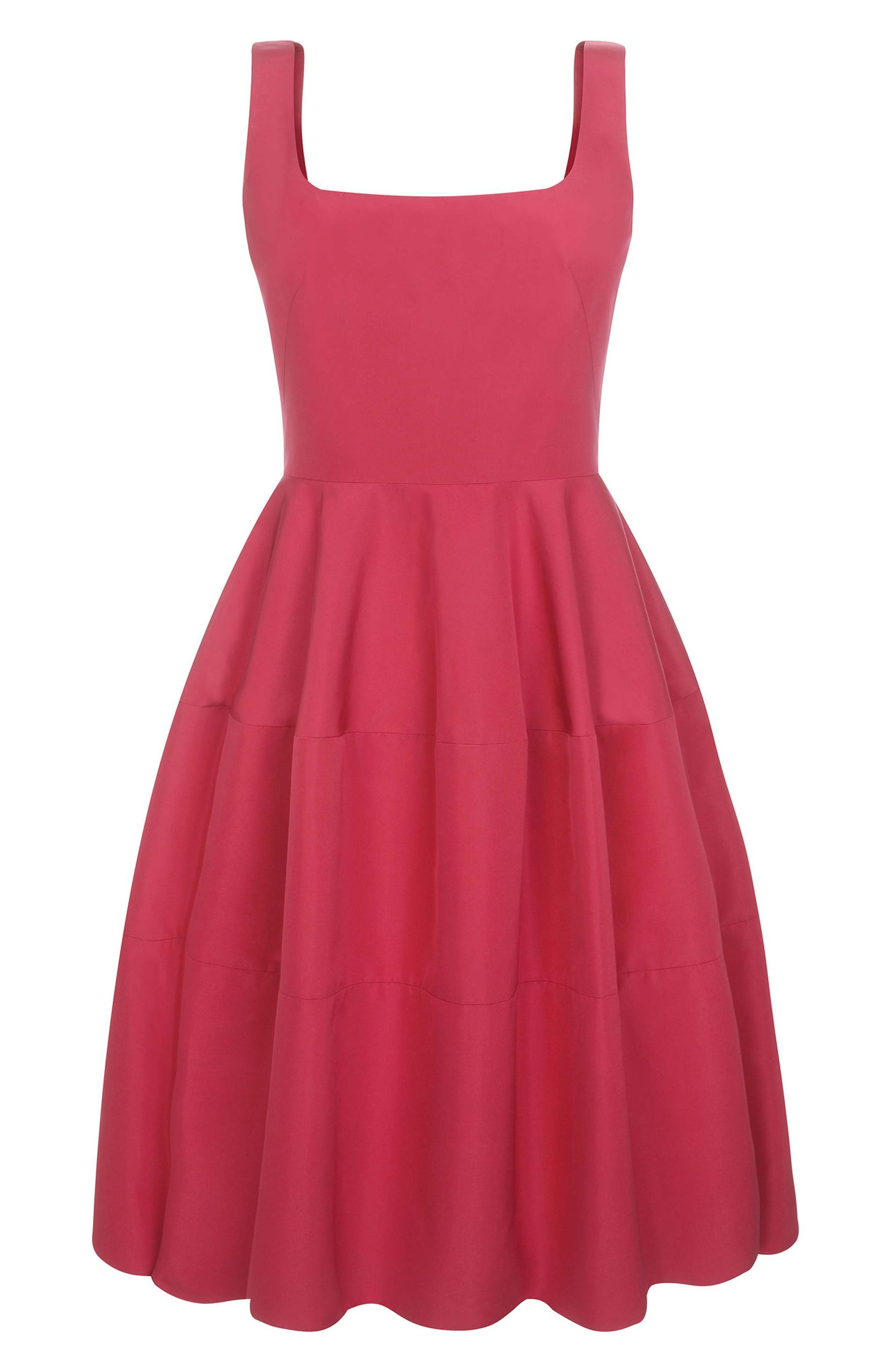 Raspberry silk faille cocktail dress very classic ruby red dress d
