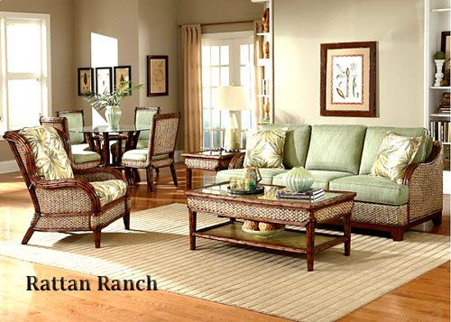 Capris Furniture Model 695 Rattan Ranch Living Collection Rattan