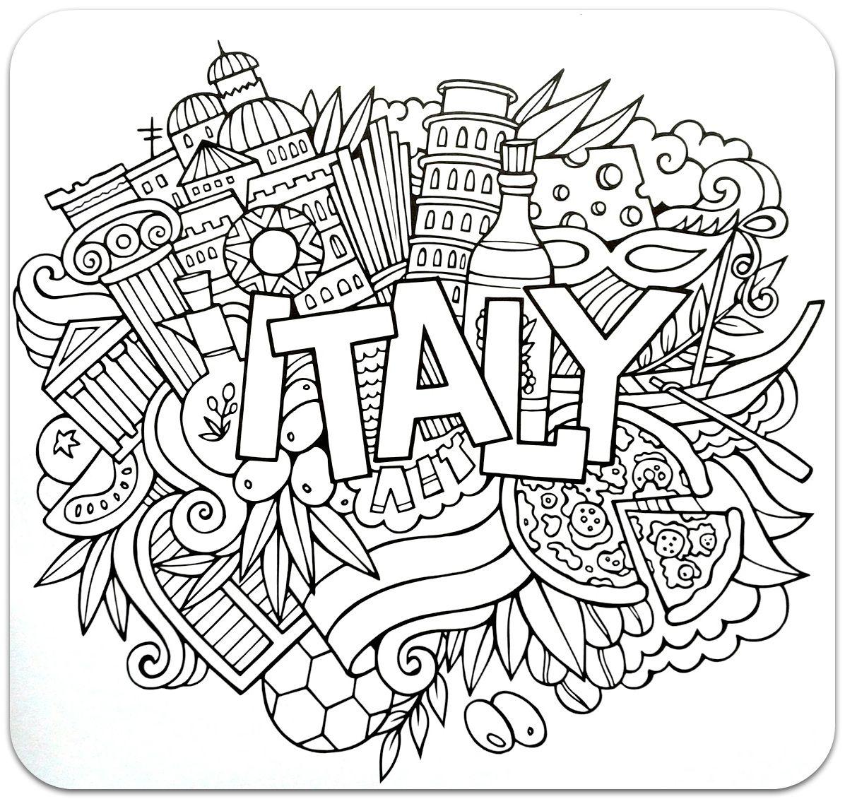 Розмальовки-антистрес. Країни (частина 1) | Раскраски ...