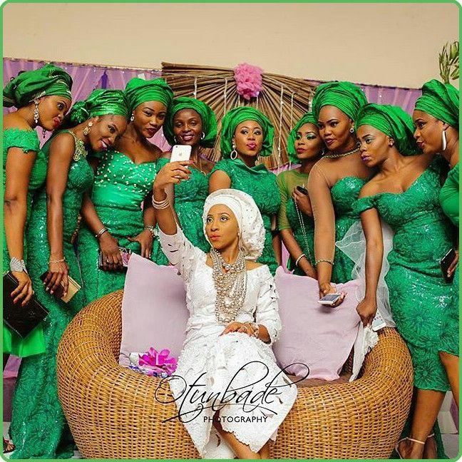 Nigerian Wedding Bridesmaids: Beautiful Greenasoebi Oreiyawo Selfie