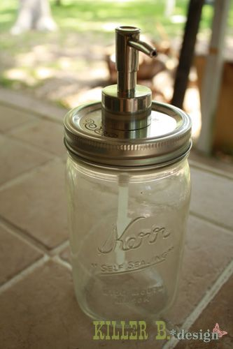 I Made Mine With Old Ball Mason Jars For The Guest Bath Anyone