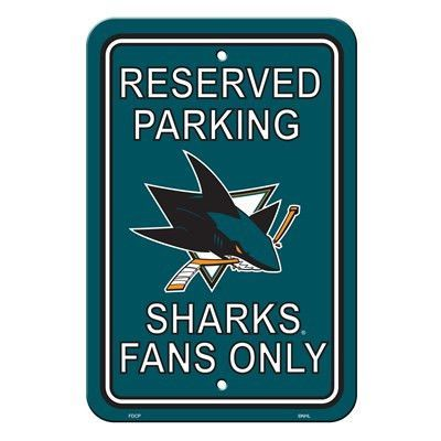 San Jose Sharks Plastic Parking Sign Parking signs and Products