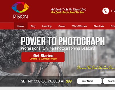 """Check out new work on my @Behance portfolio: """"Photography Web Design"""" http://be.net/gallery/28769917/Photography-Web-Design"""