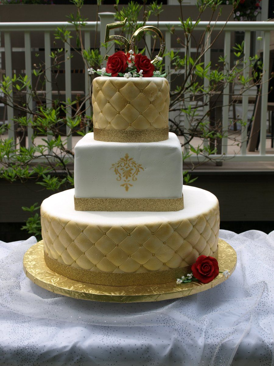 golden wedding cake ribbon golden quilt wedding cake rolled fondant quilted 14765