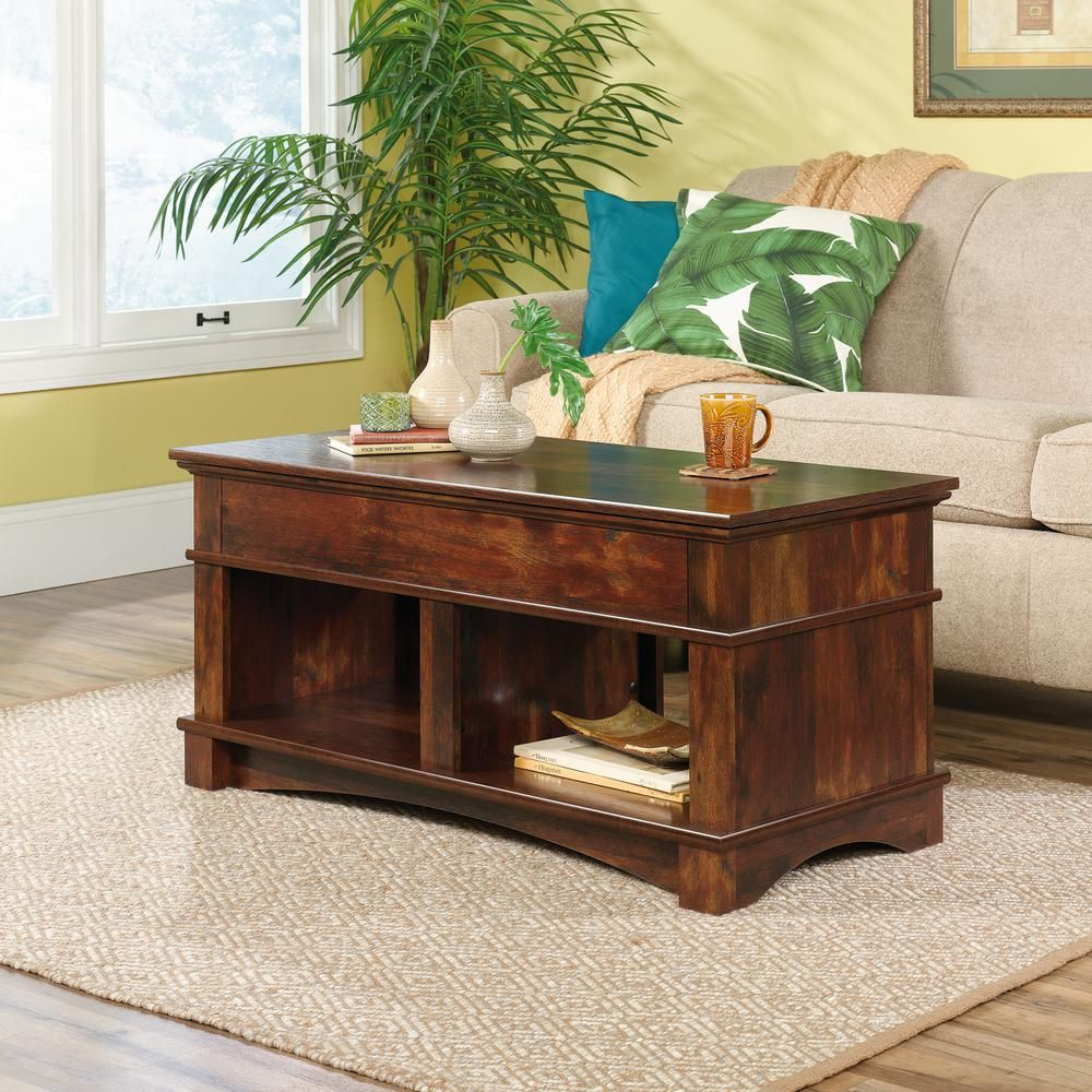 Sauder Harbor View Curado Cherry Lift Top Coffee Table Lift Top