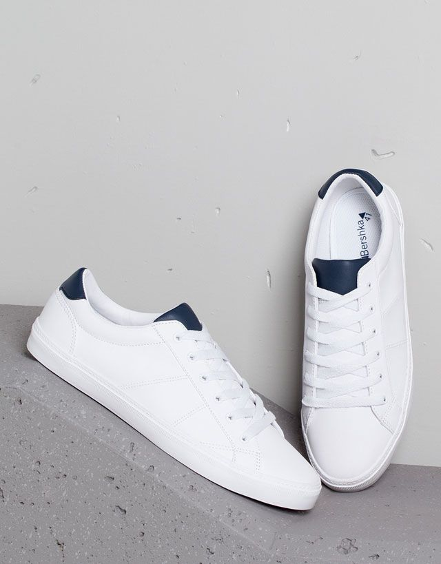 new concept 659cc 8c487 Zapatos - Chico - Chico - Bershka Colombia Mens White Sneakers, Shoes  Sneakers, Sneakers