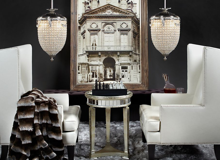 borghese mirrored furniture. Borghese Mirrored End Table Furniture